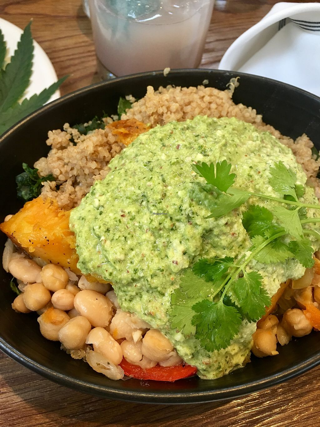 "Photo of Gracias Madre - WeHo  by <a href=""/members/profile/thejonblake"">thejonblake</a> <br/>The tres bowl - quinoa, kale, roasted squash, pesto cashew crème, white beans, peppers and onions. Delicious! <br/> June 20, 2017  - <a href='/contact/abuse/image/44780/271438'>Report</a>"