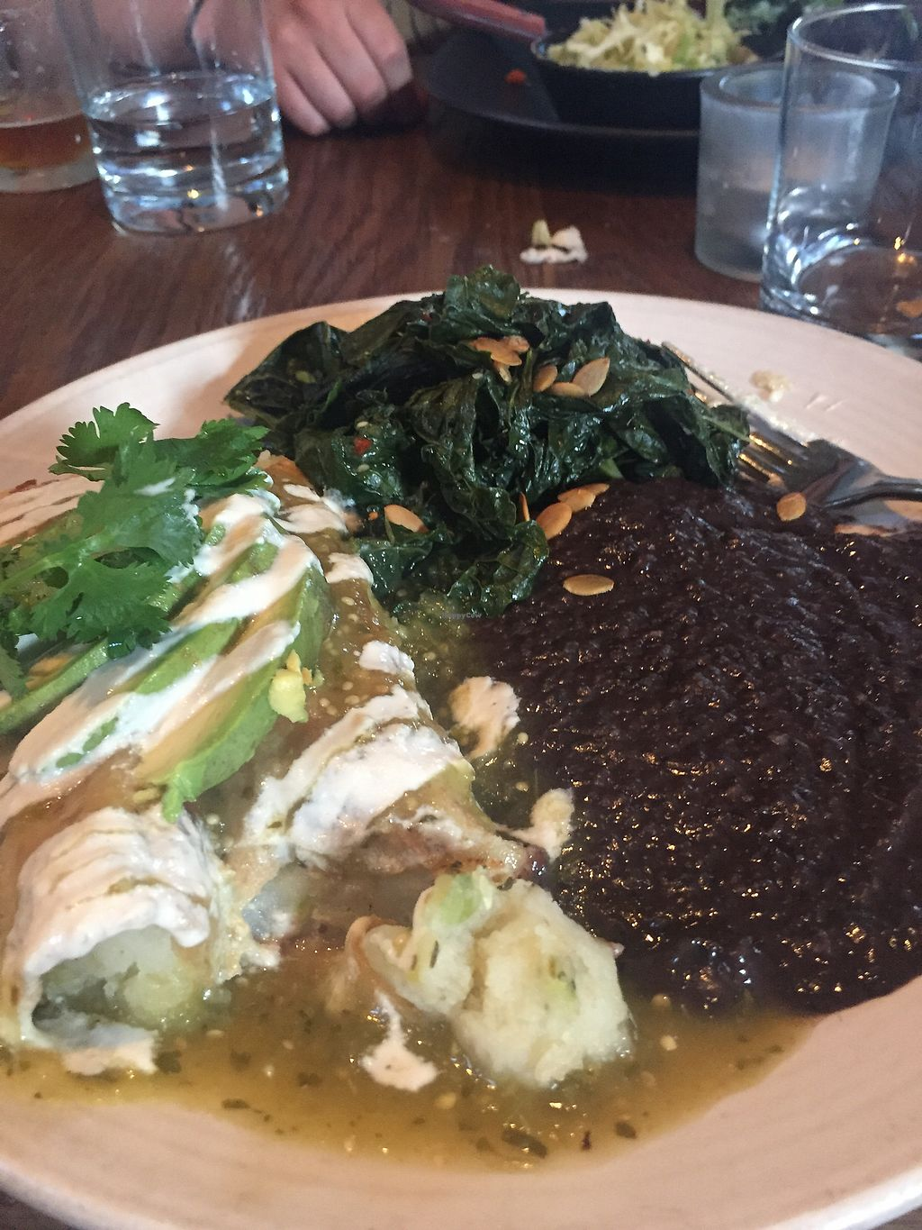 "Photo of Gracias Madre - WeHo  by <a href=""/members/profile/WolfPatrick"">WolfPatrick</a> <br/>Enchiladas Verde <br/> July 14, 2017  - <a href='/contact/abuse/image/44780/280252'>Report</a>"