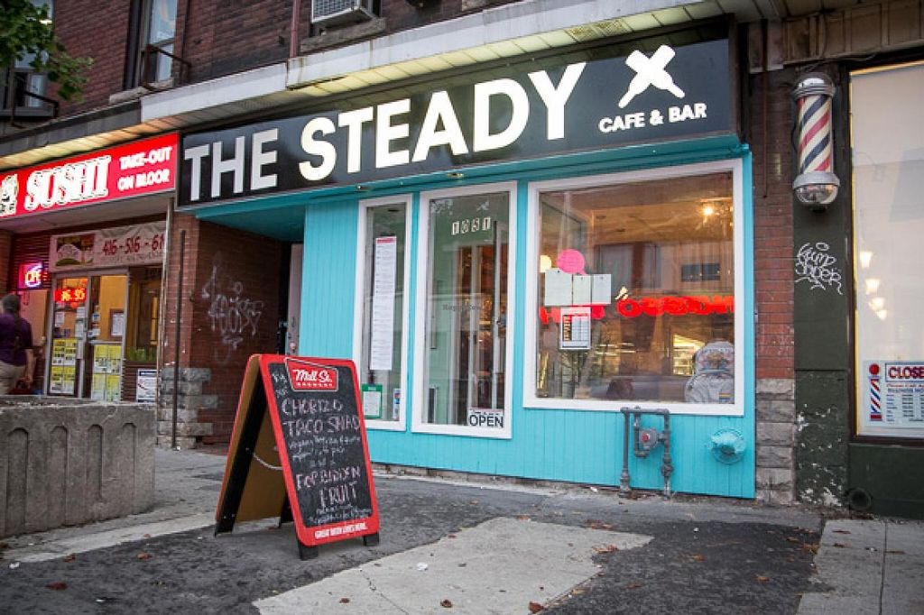 """Photo of CLOSED: The Steady  by <a href=""""/members/profile/thesteady"""">thesteady</a> <br/>Exterior. On south side of Bloor just east of Dufferin <br/> January 19, 2014  - <a href='/contact/abuse/image/44803/62782'>Report</a>"""