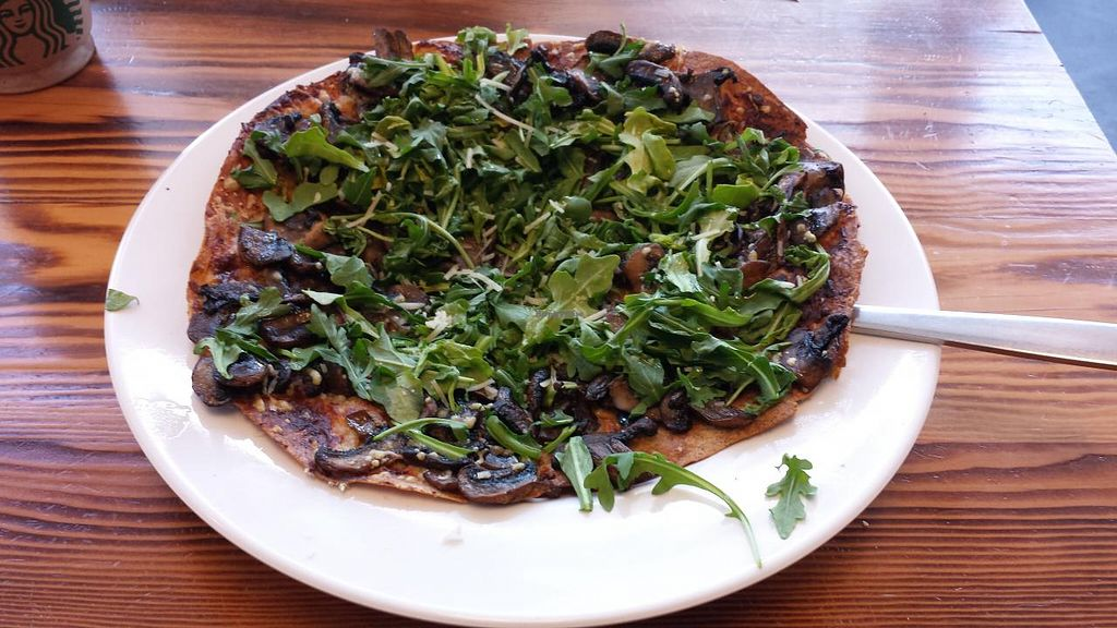 """Photo of Grain Lab  by <a href=""""/members/profile/Veggie%20Army"""">Veggie Army</a> <br/>Mushroom pizza <br/> April 29, 2015  - <a href='/contact/abuse/image/44841/100643'>Report</a>"""