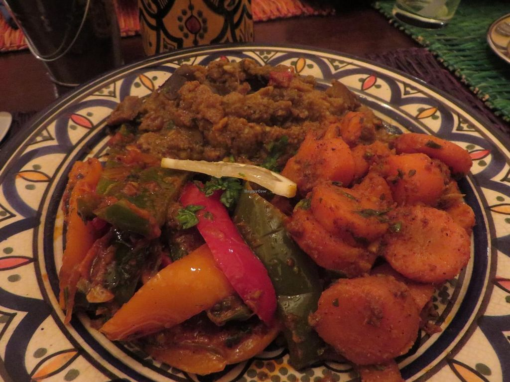 "Photo of Al Kasbah  by <a href=""/members/profile/VegiAnna"">VegiAnna</a> <br/>Vegetable plate (with organic carrots, courgette, and eggplant) (vegan) <br/> February 5, 2014  - <a href='/contact/abuse/image/44845/63764'>Report</a>"