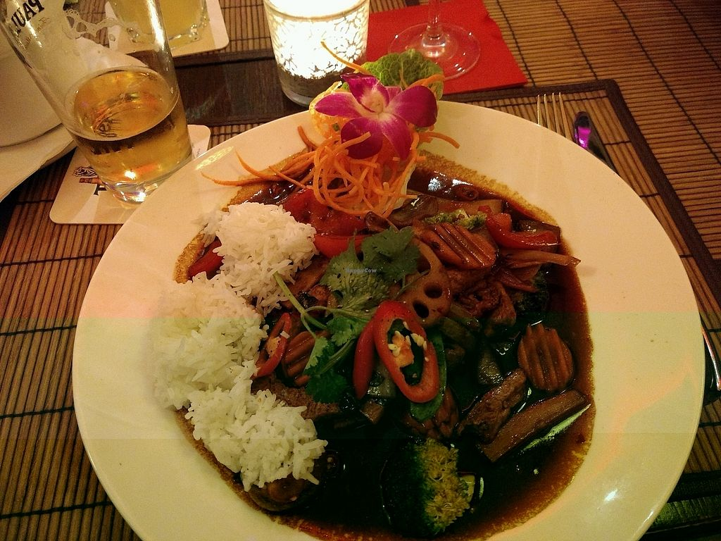 """Photo of Jack Glockenbach  by <a href=""""/members/profile/ChrisMunger"""">ChrisMunger</a> <br/>""""Tofu im Urwald"""" I thought to take a picture after I put rice on my plate <br/> January 8, 2018  - <a href='/contact/abuse/image/44847/344232'>Report</a>"""