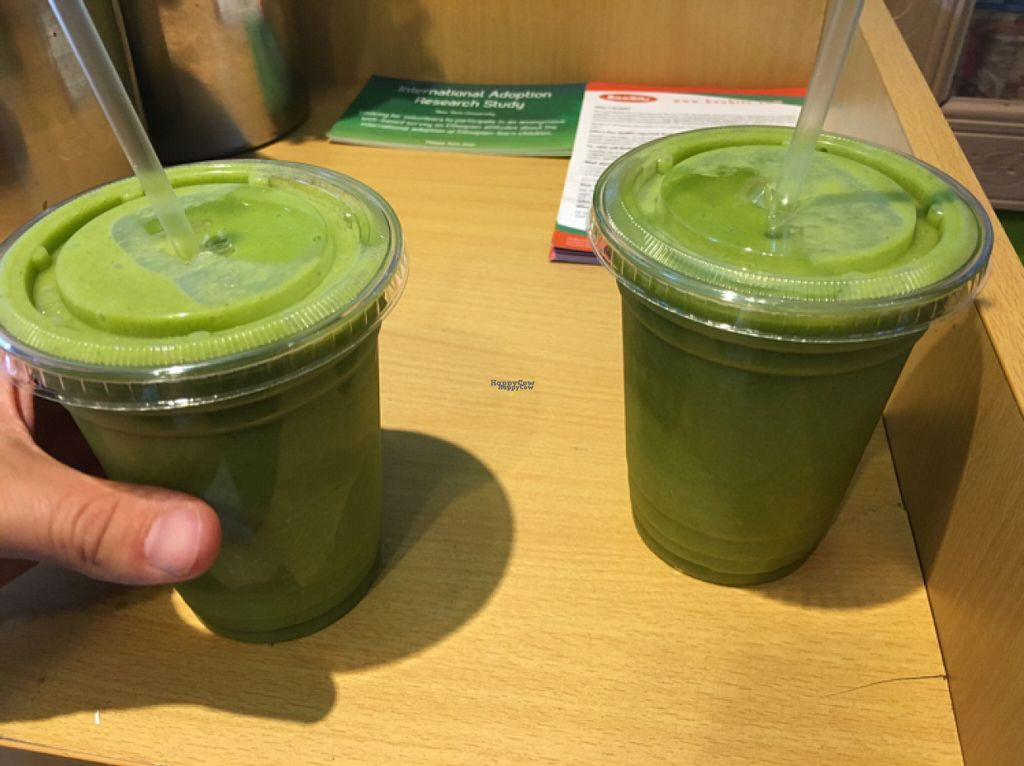 """Photo of Oasis Juice Bar  by <a href=""""/members/profile/Jasmijn"""">Jasmijn</a> <br/>green smoothies <br/> August 4, 2016  - <a href='/contact/abuse/image/44854/165431'>Report</a>"""