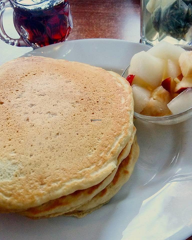 """Photo of Mamalicious  by <a href=""""/members/profile/ninaframbuesa"""">ninaframbuesa</a> <br/>Vegan pancakes <br/> June 26, 2017  - <a href='/contact/abuse/image/44868/273786'>Report</a>"""