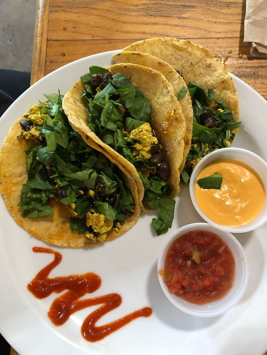 """Photo of The Sentient Bean  by <a href=""""/members/profile/KerryElise"""">KerryElise</a> <br/>Vegan breakfast tacos <br/> April 12, 2018  - <a href='/contact/abuse/image/4486/384673'>Report</a>"""