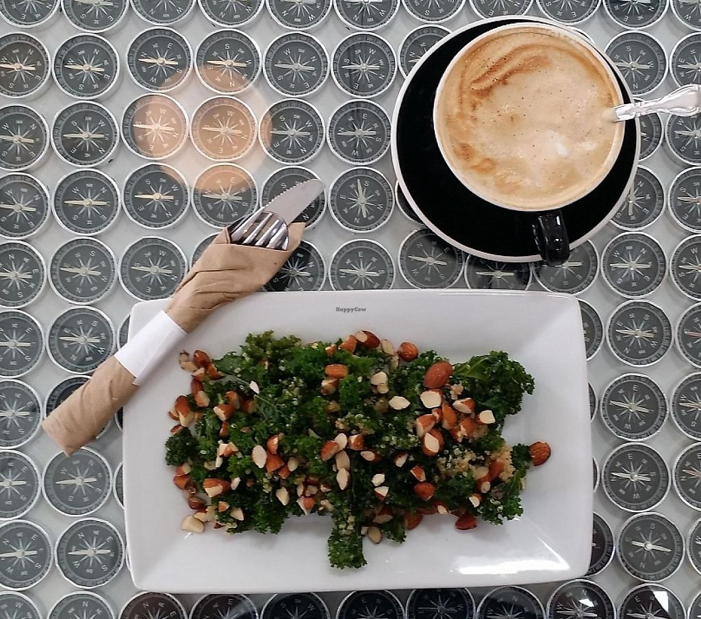 """Photo of Ada's Technical Books and Cafe  by <a href=""""/members/profile/The%20Hungry%20Vegan"""">The Hungry Vegan</a> <br/>Kale and Quinoa Salad <br/> November 4, 2014  - <a href='/contact/abuse/image/44873/233175'>Report</a>"""