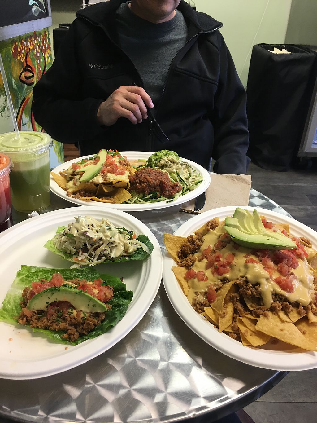 """Photo of Simply Pure  by <a href=""""/members/profile/TheVeganSuperpower"""">TheVeganSuperpower</a> <br/>Sampler plate and nachos <br/> February 27, 2018  - <a href='/contact/abuse/image/44876/364306'>Report</a>"""