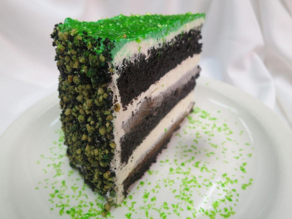 "Photo of REMOVED: Ellen's Stardust Diner  by <a href=""/members/profile/rmark25"">rmark25</a> <br/>'Wicked Cake'  Chocolate-Peppermint cake with ganache and vanilla Icing <br/> January 25, 2014  - <a href='/contact/abuse/image/44883/63147'>Report</a>"