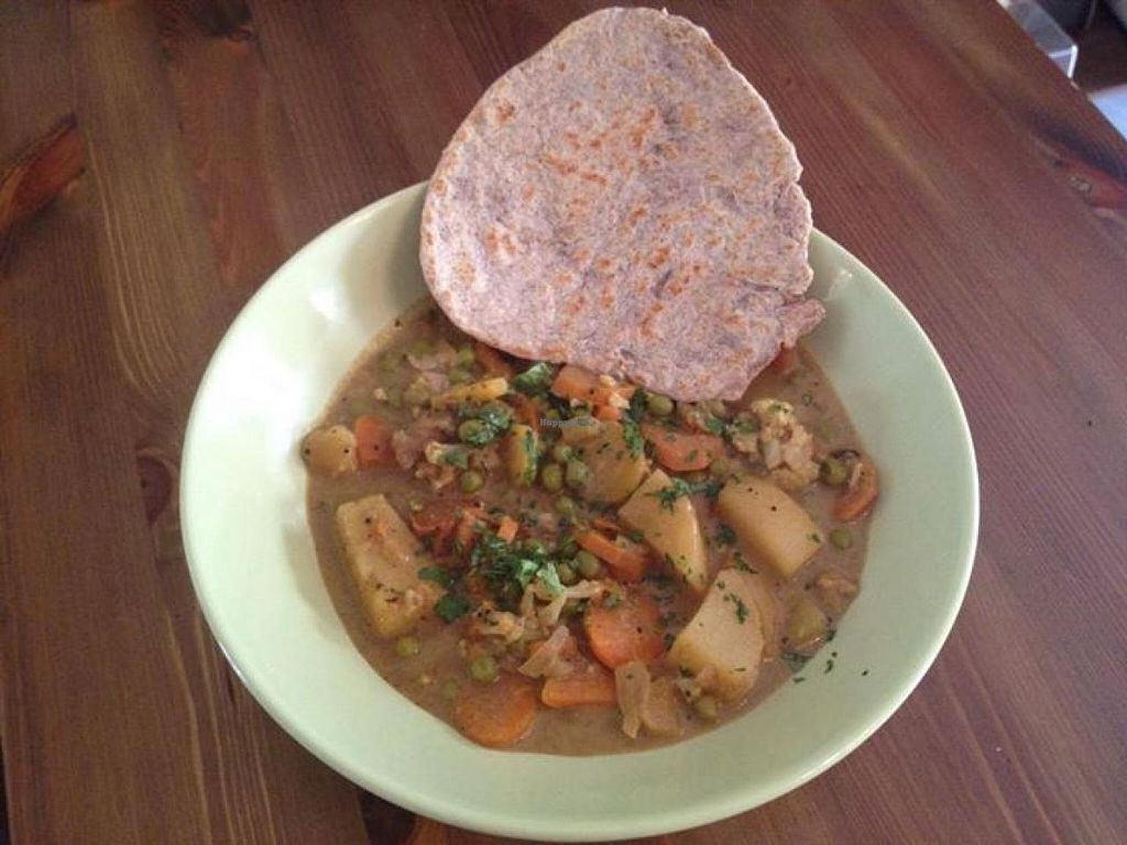 "Photo of Venga - Vegetarisches Bistro  by <a href=""/members/profile/community"">community</a> <br/>Vegetables with chapati <br/> February 16, 2014  - <a href='/contact/abuse/image/44886/64388'>Report</a>"