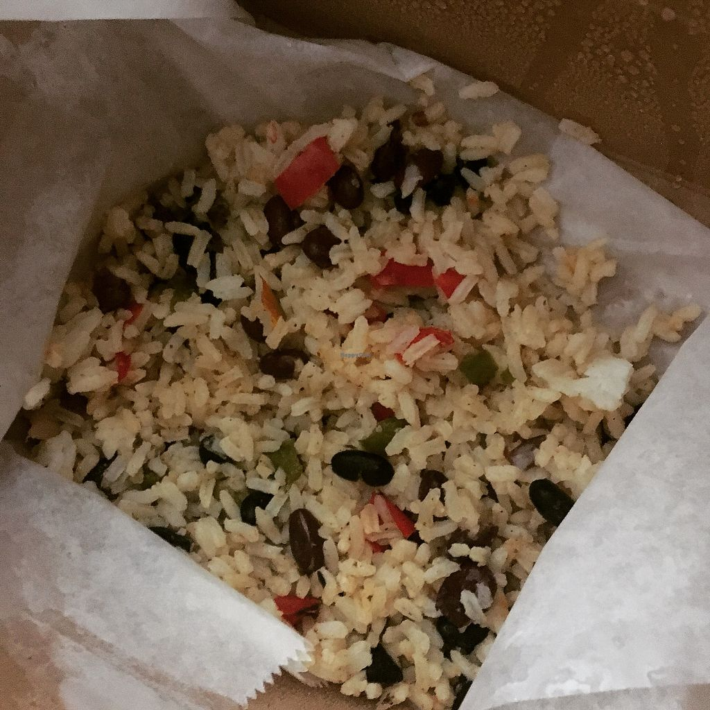 """Photo of Blissful Banana Cafe  by <a href=""""/members/profile/Sophie"""">Sophie</a> <br/>vegan rice and beans <br/> October 29, 2017  - <a href='/contact/abuse/image/44905/319891'>Report</a>"""