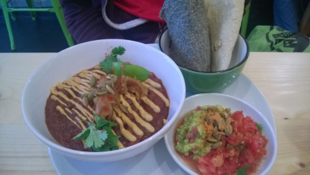 "Photo of CLOSED: Wildebeest  by <a href=""/members/profile/TrudiH"">TrudiH</a> <br/>Vegetable chilli with cashew cheese, salsa, guacamole and blue flour wraps <br/> June 20, 2016  - <a href='/contact/abuse/image/44906/154949'>Report</a>"