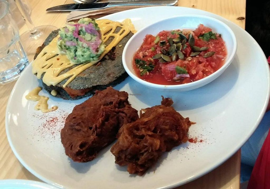 "Photo of CLOSED: Wildebeest  by <a href=""/members/profile/trinitybourne"">trinitybourne</a> <br/>Butternut squash quesadillas with cashew nut cheese, refried beans, salsa and guacamole. All vegan <br/> July 6, 2014  - <a href='/contact/abuse/image/44906/73305'>Report</a>"