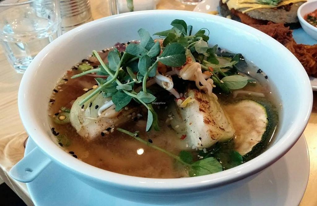 "Photo of CLOSED: Wildebeest  by <a href=""/members/profile/trinitybourne"">trinitybourne</a> <br/>Udon noodle broth with courgette, pak choi, pea shoots and beansprouts <br/> July 6, 2014  - <a href='/contact/abuse/image/44906/73308'>Report</a>"