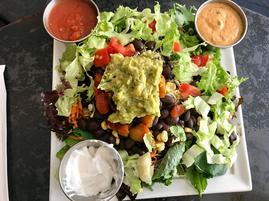 "Photo of Ahimsa Vegan Cafe  by <a href=""/members/profile/FatTonyBMX"">FatTonyBMX</a> <br/>Fiesta Salad <br/> August 12, 2017  - <a href='/contact/abuse/image/44909/291820'>Report</a>"