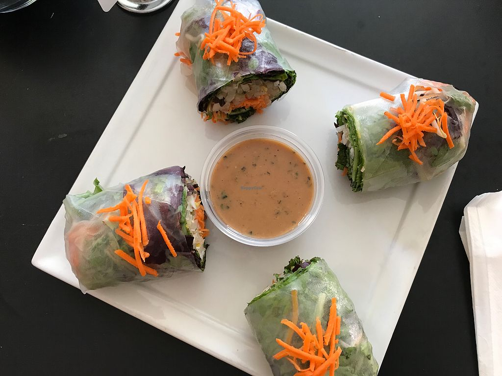 "Photo of Ahimsa Vegan Cafe  by <a href=""/members/profile/FatTonyBMX"">FatTonyBMX</a> <br/>Fresh spring rolls.  <br/> August 12, 2017  - <a href='/contact/abuse/image/44909/291827'>Report</a>"