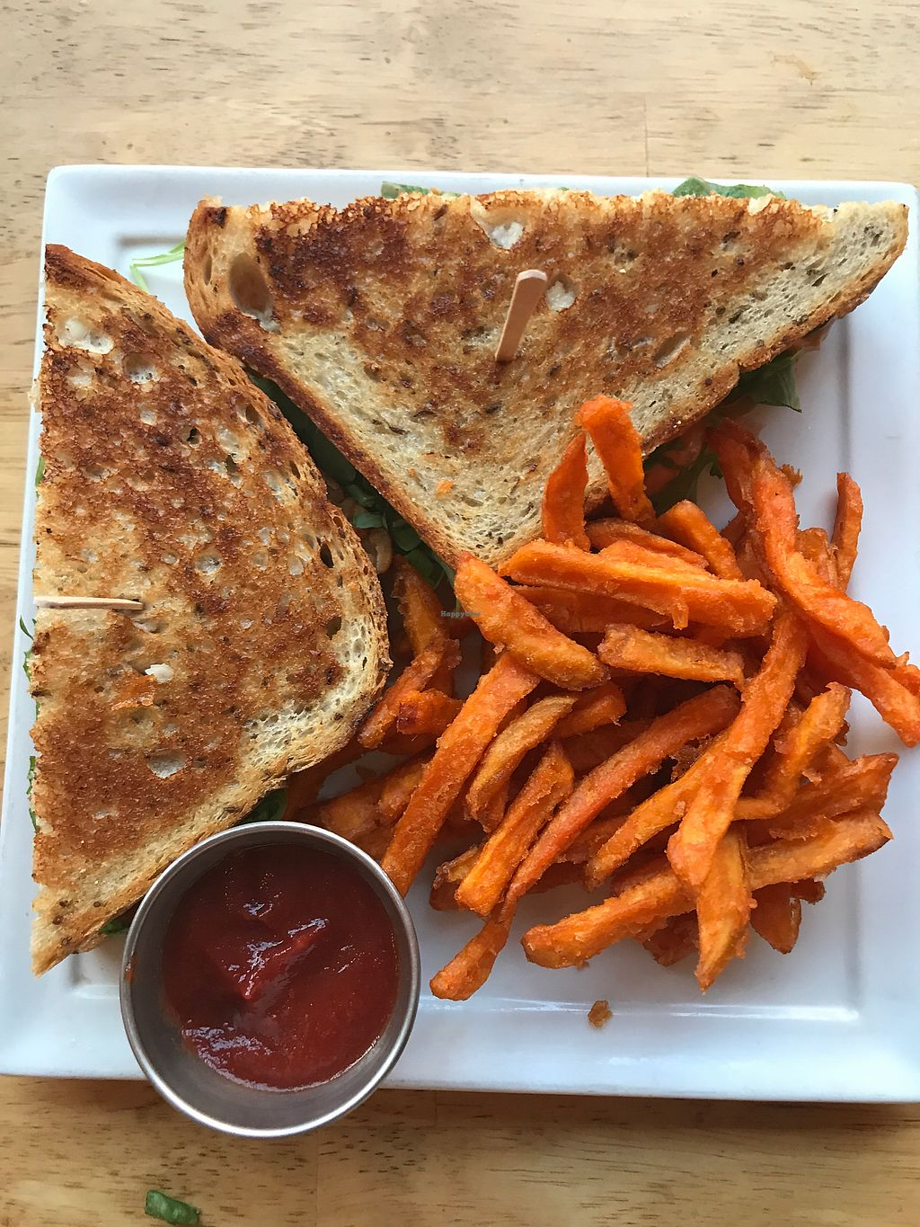 "Photo of Ahimsa Vegan Cafe  by <a href=""/members/profile/Bex2017"">Bex2017</a> <br/>Ruben Sandwich - 4 Stars <br/> October 1, 2017  - <a href='/contact/abuse/image/44909/310609'>Report</a>"