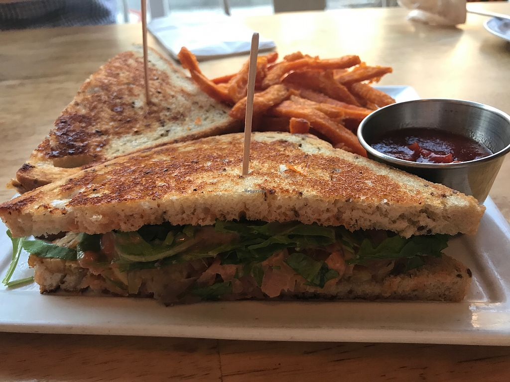 "Photo of Ahimsa Vegan Cafe  by <a href=""/members/profile/Bex2017"">Bex2017</a> <br/>Ruben Sandwich  <br/> October 1, 2017  - <a href='/contact/abuse/image/44909/310610'>Report</a>"
