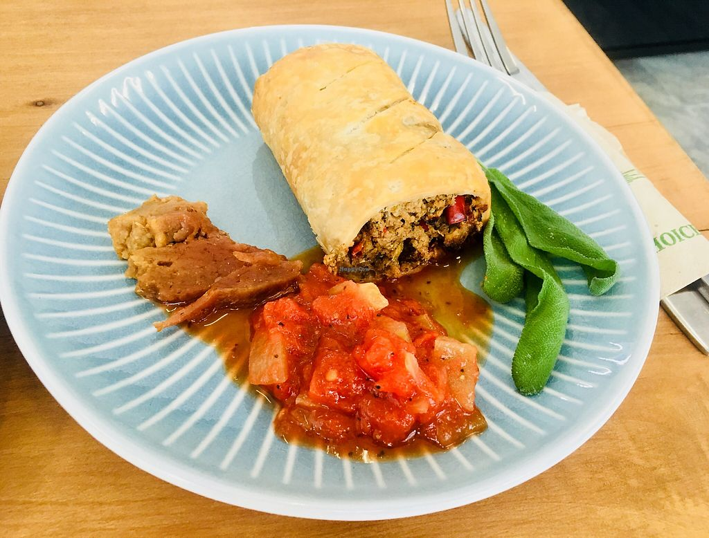 """Photo of Kaiaroha Organic Vegan Café  by <a href=""""/members/profile/Yummyplants"""">Yummyplants</a> <br/>Sausage roll <br/> December 18, 2017  - <a href='/contact/abuse/image/44910/336782'>Report</a>"""