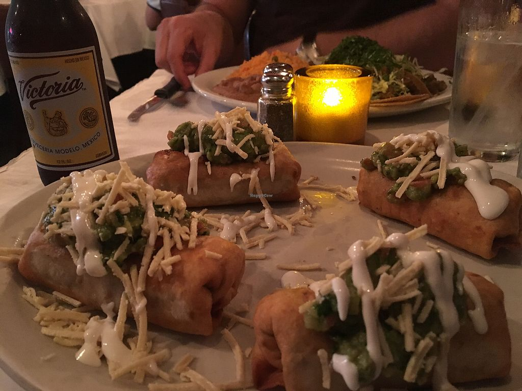 """Photo of La Cantina  by <a href=""""/members/profile/Thatgirlallie"""">Thatgirlallie</a> <br/>vegan mini chimichangas up front and tacos in the back <br/> September 2, 2017  - <a href='/contact/abuse/image/44923/300123'>Report</a>"""