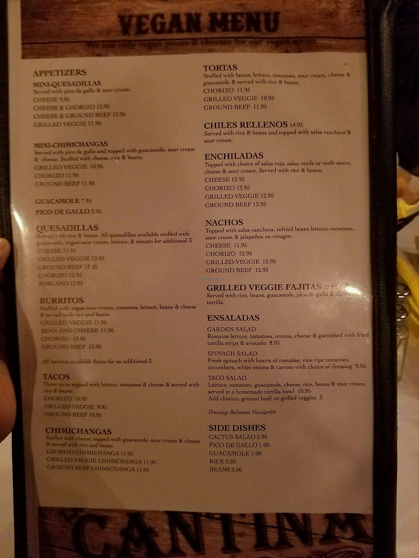 "Photo of La Cantina  by <a href=""/members/profile/Tamika"">Tamika</a> <br/>Full vegan menu <br/> November 16, 2017  - <a href='/contact/abuse/image/44923/326058'>Report</a>"