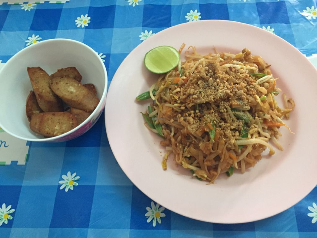 """Photo of CLOSED: Jay 99 - Youta Vegetarian Food  by <a href=""""/members/profile/eatshitanddie"""">eatshitanddie</a> <br/>pad Thai and veggie sausage  <br/> January 31, 2016  - <a href='/contact/abuse/image/44927/134494'>Report</a>"""