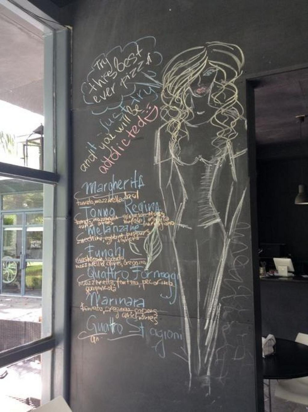 """Photo of Iron Side Pittzza  by <a href=""""/members/profile/Julie%20R"""">Julie R</a> <br/>The chalkboard menu <br/> April 20, 2014  - <a href='/contact/abuse/image/44947/68107'>Report</a>"""