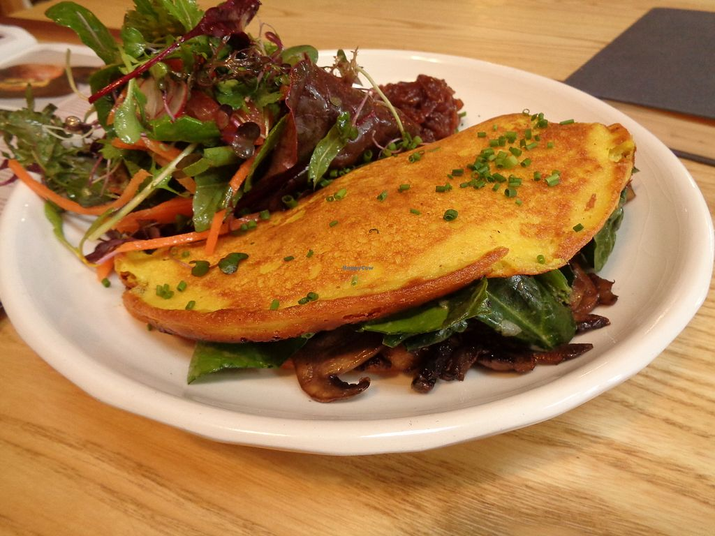 """Photo of Little Bird Organics - Ponsonby  by <a href=""""/members/profile/citizenInsane"""">citizenInsane</a> <br/>chickpea omlet with greens <br/> June 22, 2017  - <a href='/contact/abuse/image/44981/272163'>Report</a>"""