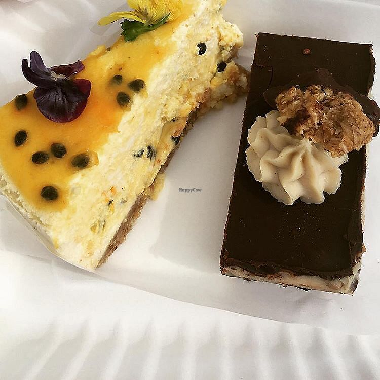 """Photo of Little Bird Organics - Ponsonby  by <a href=""""/members/profile/danielaj"""">danielaj</a> <br/>passion fruit cheesecake and cookies and cream slice <br/> August 1, 2017  - <a href='/contact/abuse/image/44981/287649'>Report</a>"""