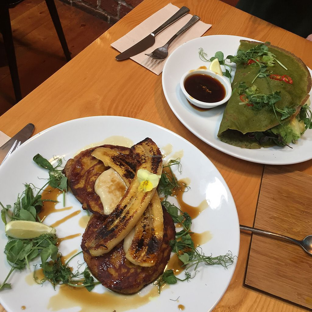 """Photo of Little Bird Organics - Ponsonby  by <a href=""""/members/profile/tash8293"""">tash8293</a> <br/>Kumara hot cakes and Vietnamese crepe <br/> August 31, 2017  - <a href='/contact/abuse/image/44981/299505'>Report</a>"""