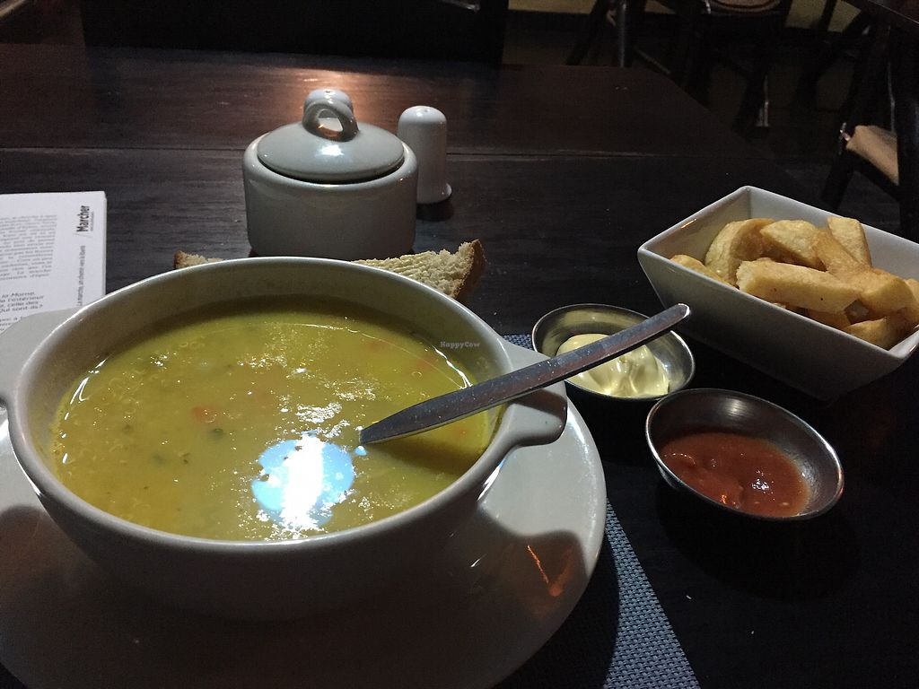 "Photo of Heart Cafe  by <a href=""/members/profile/Dianebg"">Dianebg</a> <br/>Quinoa soup and French fries  <br/> October 18, 2017  - <a href='/contact/abuse/image/44989/316490'>Report</a>"