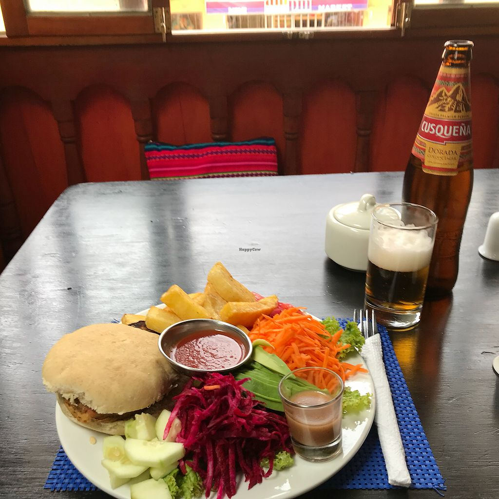 "Photo of Heart Cafe  by <a href=""/members/profile/imogenmichel"">imogenmichel</a> <br/>Veggie burger <br/> January 6, 2018  - <a href='/contact/abuse/image/44989/343779'>Report</a>"