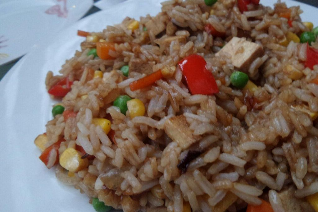 """Photo of Doobie's Vegan Bar  by <a href=""""/members/profile/OdeliaCohen"""">OdeliaCohen</a> <br/>Tofu Stir-Fry with Fried Rice <br/> June 19, 2015  - <a href='/contact/abuse/image/44992/106504'>Report</a>"""