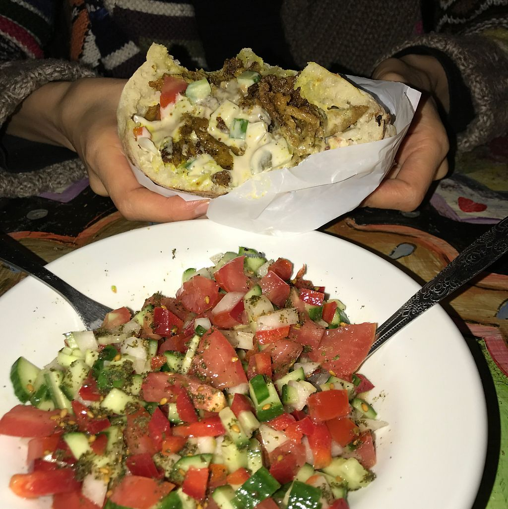 """Photo of Doobie's Vegan Bar  by <a href=""""/members/profile/YahelSherman"""">YahelSherman</a> <br/>amazing Shawarma  <br/> April 27, 2017  - <a href='/contact/abuse/image/44992/253242'>Report</a>"""
