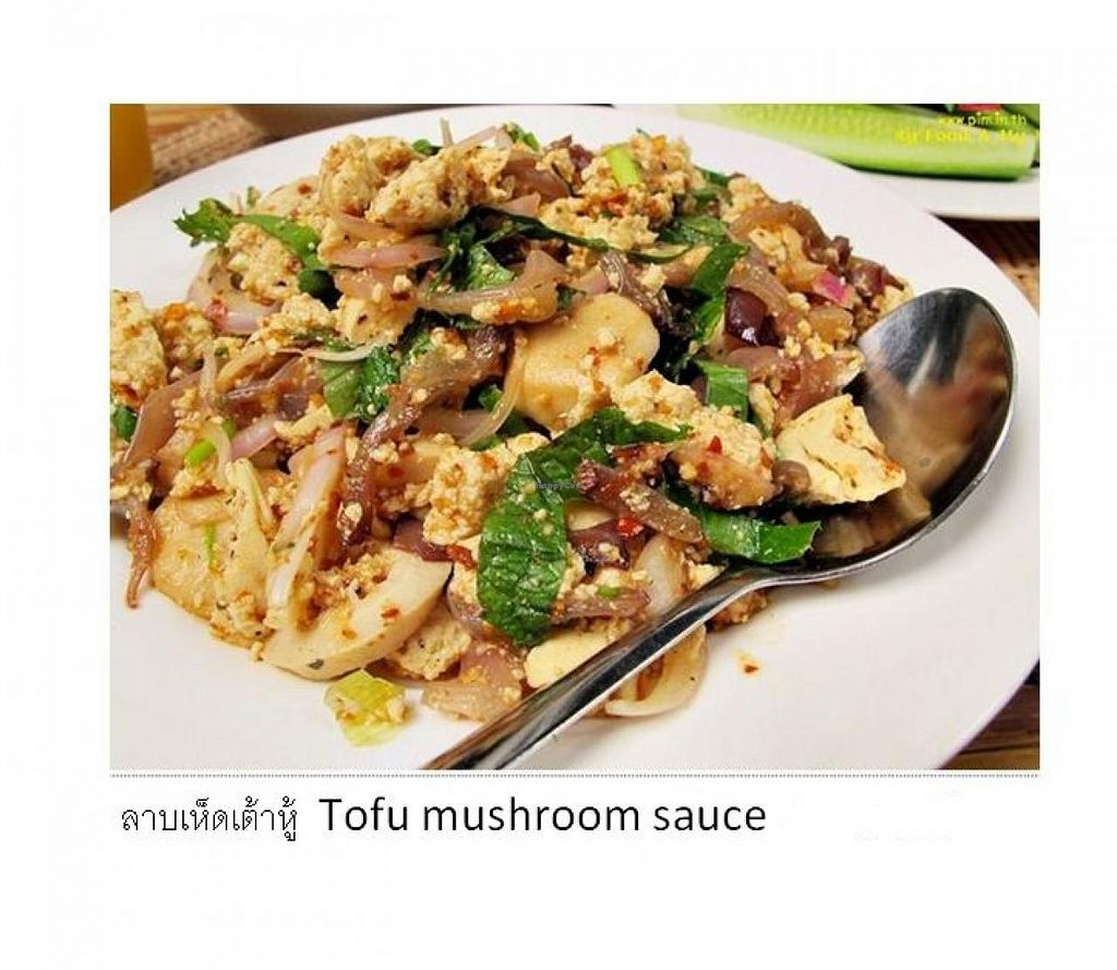 """Photo of CLOSED: Ram Poeng Vegetarian  by <a href=""""/members/profile/Mrs.%20Lungor"""">Mrs. Lungor</a> <br/>Tofu mushroom meal <br/> July 11, 2014  - <a href='/contact/abuse/image/45008/73683'>Report</a>"""