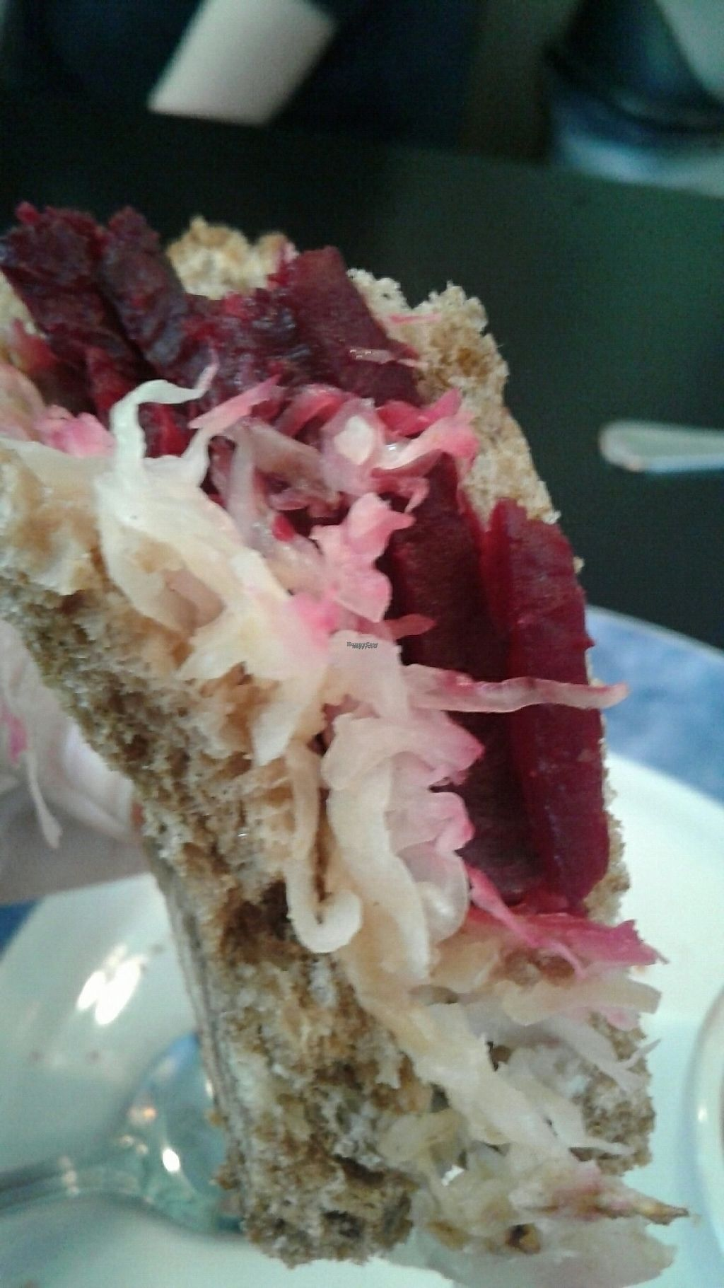 "Photo of Cafe Evergreen  by <a href=""/members/profile/FlowerGoddess420"">FlowerGoddess420</a> <br/>Vegan Beet Rueben Sandwich <br/> January 7, 2017  - <a href='/contact/abuse/image/45031/209149'>Report</a>"