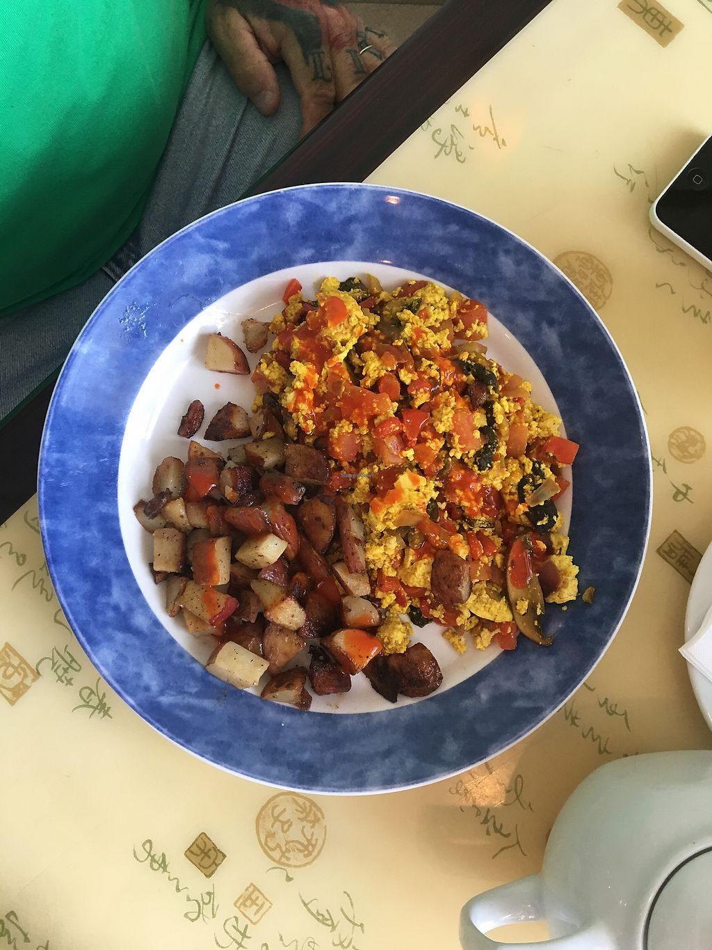 """Photo of Cafe Evergreen  by <a href=""""/members/profile/caittt"""">caittt</a> <br/>Tofu scramble!!!! They were happy to let us customize it <br/> April 15, 2018  - <a href='/contact/abuse/image/45031/386337'>Report</a>"""