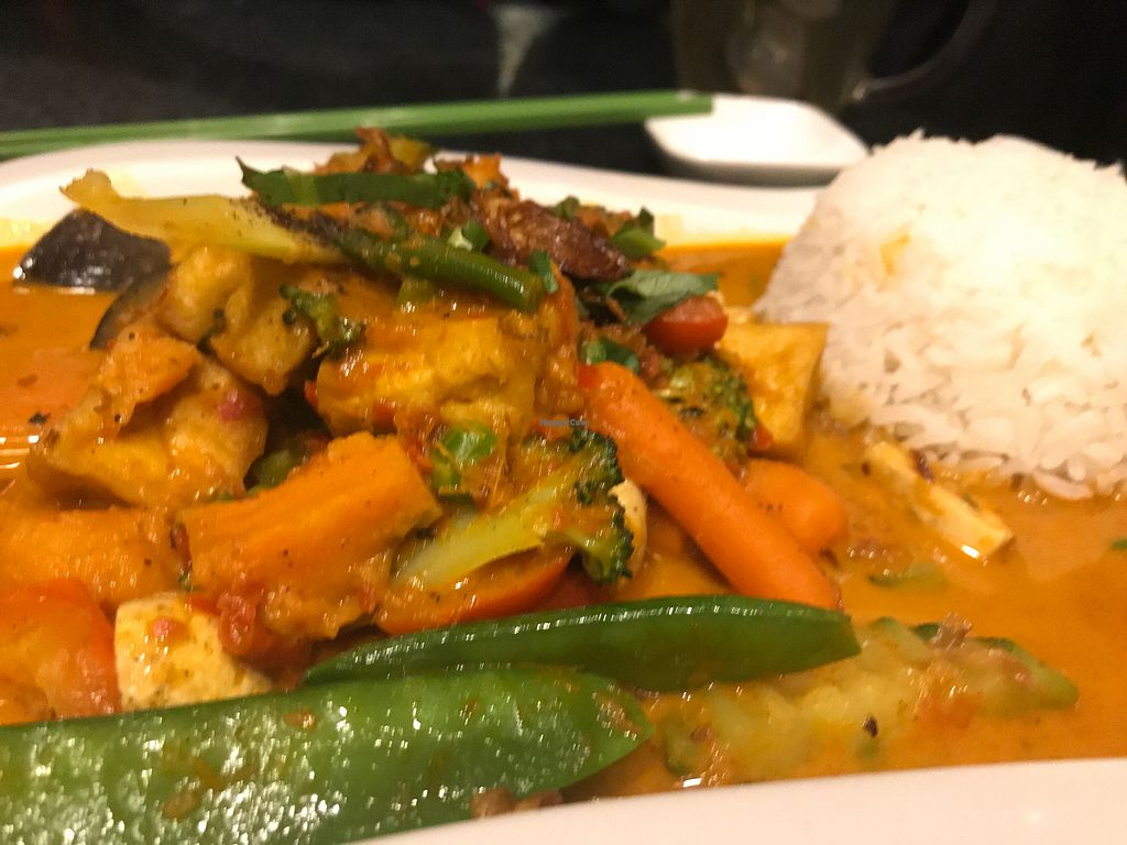 """Photo of Chay Village - Friedrichshain  by <a href=""""/members/profile/Beaa"""">Beaa</a> <br/>Red curry - very tasty ! <br/> December 23, 2017  - <a href='/contact/abuse/image/45036/338354'>Report</a>"""