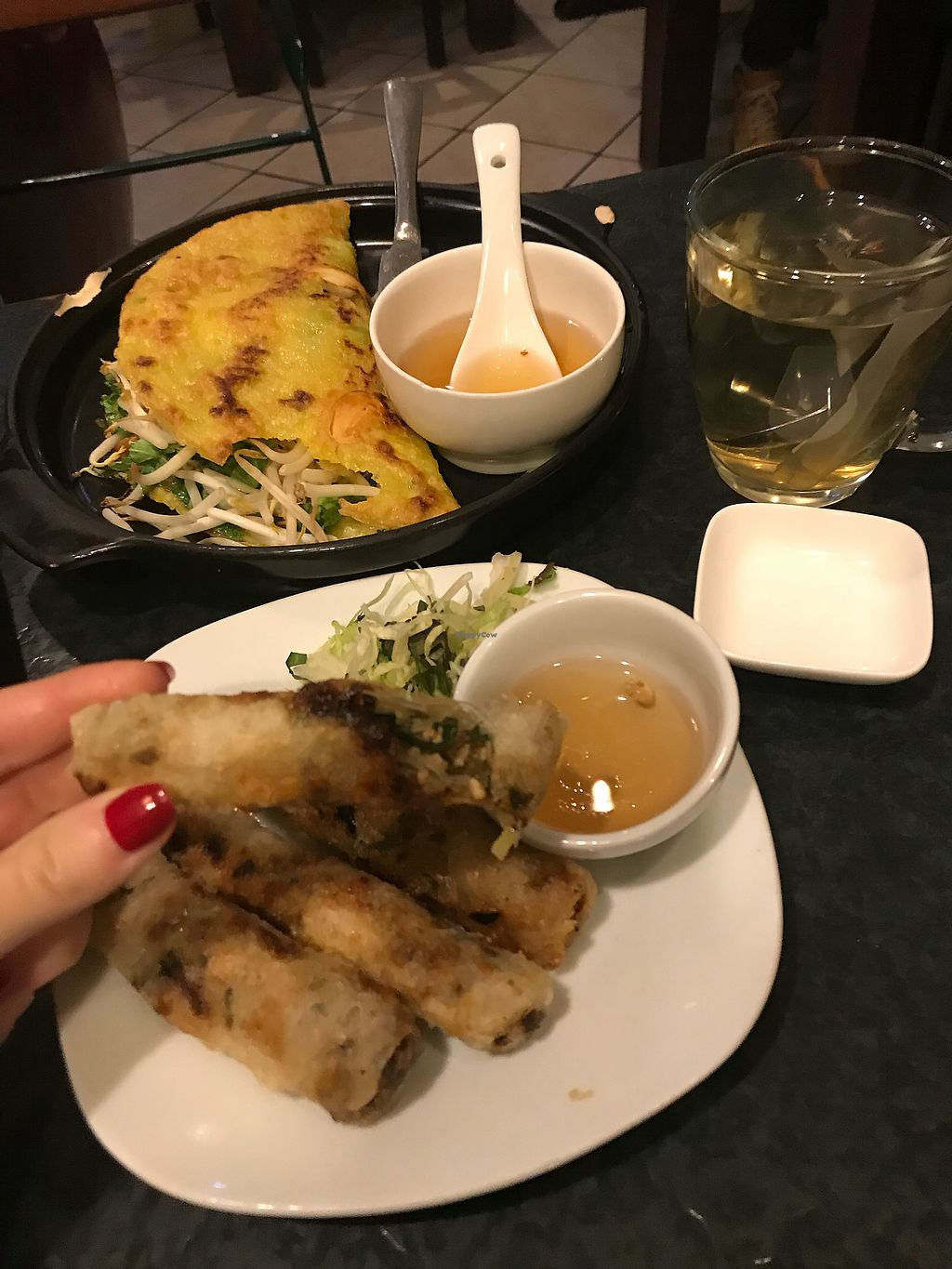 """Photo of Chay Village - Friedrichshain  by <a href=""""/members/profile/Beaa"""">Beaa</a> <br/>Spring rolls - good but a bit greasy  <br/> December 23, 2017  - <a href='/contact/abuse/image/45036/338356'>Report</a>"""