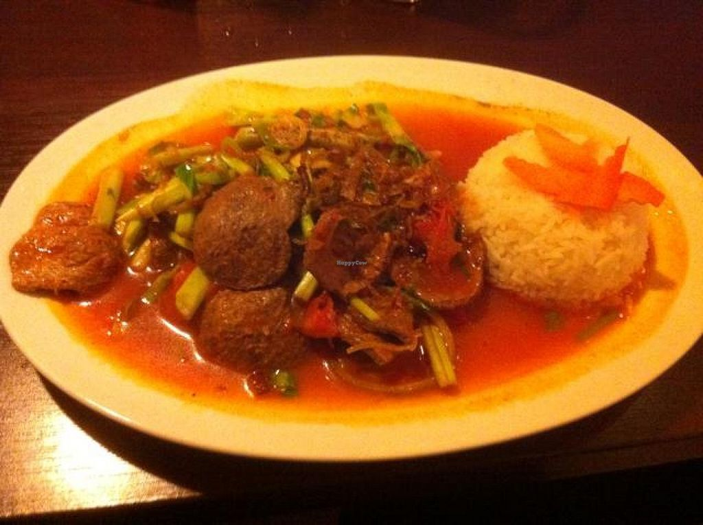 """Photo of Chay Village - Friedrichshain  by <a href=""""/members/profile/J-Veg"""">J-Veg</a> <br/>dark tofu with Vietnamese celery (Nr. 31) <br/> April 19, 2014  - <a href='/contact/abuse/image/45036/67991'>Report</a>"""