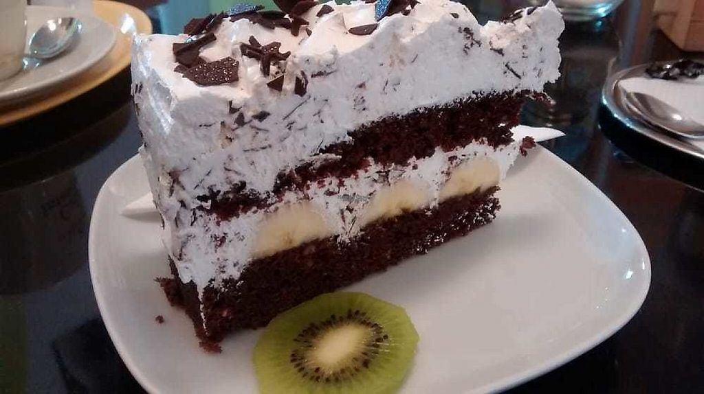 """Photo of Cafe Kiwi  by <a href=""""/members/profile/TrixieFirecracker"""">TrixieFirecracker</a> <br/>Chocolate and banana cake <br/> April 1, 2017  - <a href='/contact/abuse/image/45124/243547'>Report</a>"""