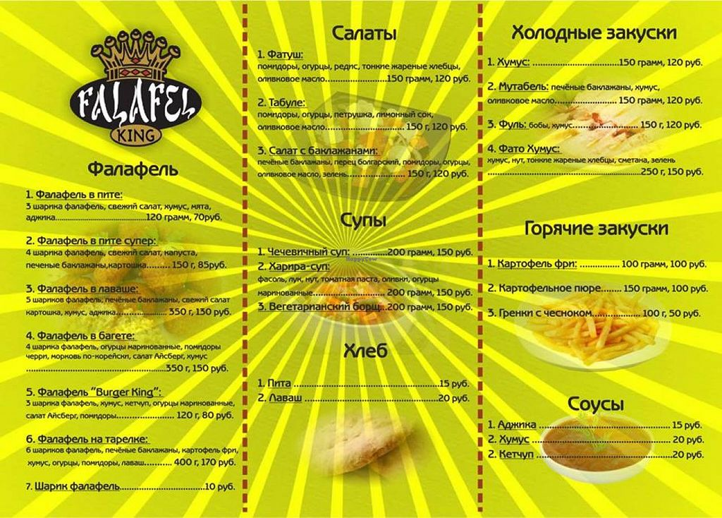 "Photo of Falafel King  by <a href=""/members/profile/PudgyPanda"">PudgyPanda</a> <br/>menu part 2 <br/> May 24, 2015  - <a href='/contact/abuse/image/45127/103208'>Report</a>"
