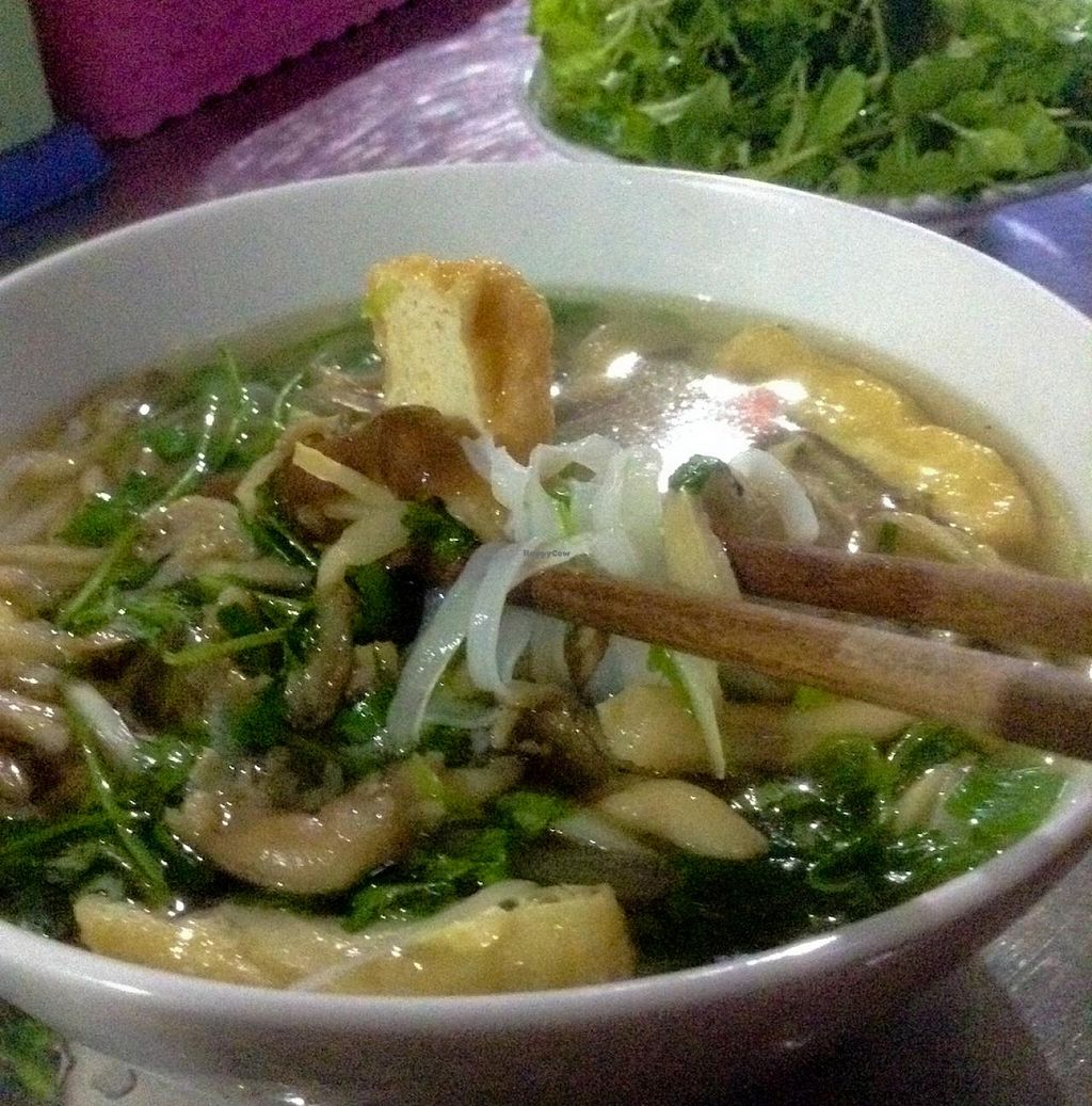 """Photo of Quan Chay Huong Sen  by <a href=""""/members/profile/Ranks42"""">Ranks42</a> <br/>Tofu-Noodle Soup for breakfast <br/> February 10, 2014  - <a href='/contact/abuse/image/45137/64157'>Report</a>"""