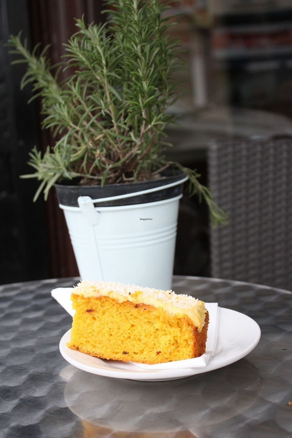 """Photo of Crumbs Kitchen  by <a href=""""/members/profile/charclothier"""">charclothier</a> <br/>mango and coconut vegan cake by naturally kind food  <br/> May 5, 2017  - <a href='/contact/abuse/image/45153/255991'>Report</a>"""