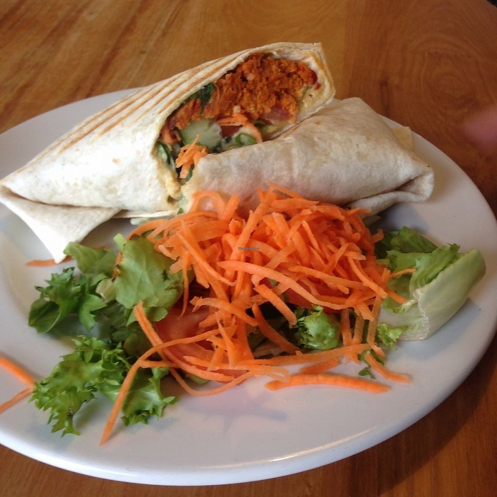 """Photo of Crumbs Kitchen  by <a href=""""/members/profile/charclothier"""">charclothier</a> <br/>pakora vegan wrap was so delicious  <br/> May 5, 2017  - <a href='/contact/abuse/image/45153/255992'>Report</a>"""