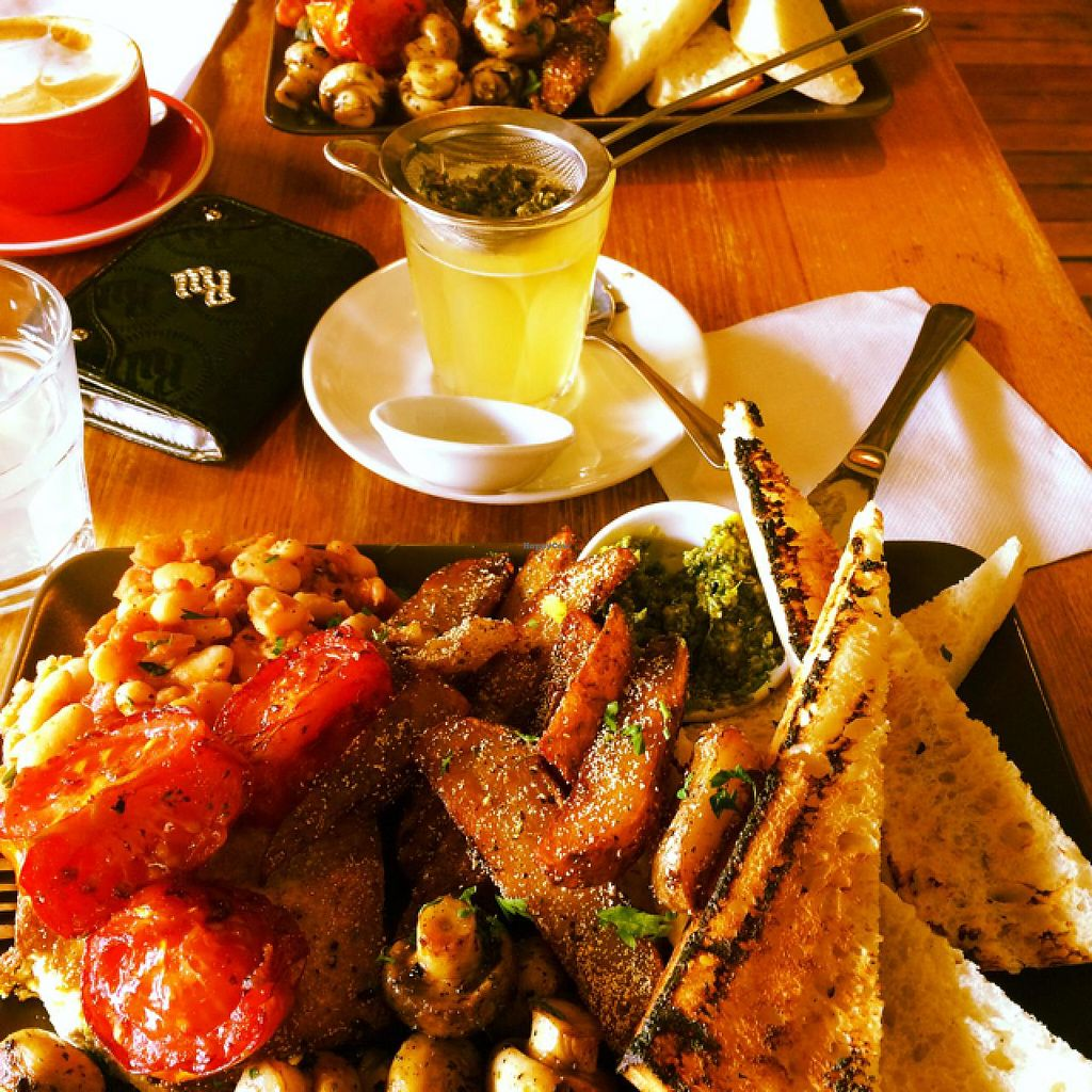 """Photo of CLOSED: Bliss Organic Garden Cafe  by <a href=""""/members/profile/Adro84"""">Adro84</a> <br/>Big Brekky and Hot Apple <br/> December 13, 2014  - <a href='/contact/abuse/image/4516/87911'>Report</a>"""