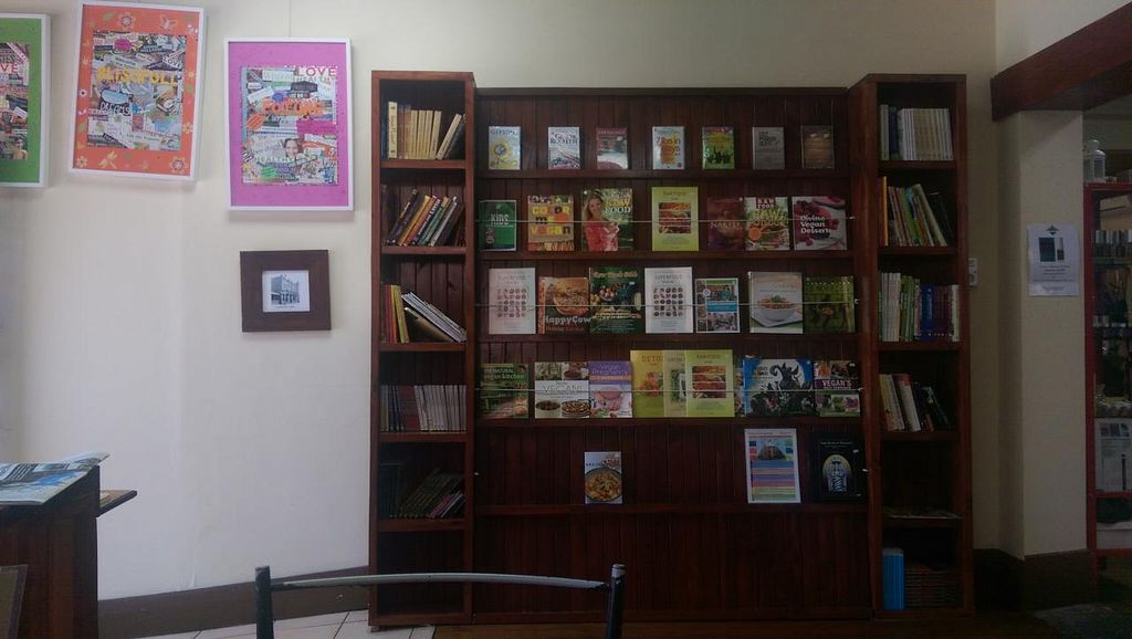 """Photo of CLOSED: Bliss Organic Garden Cafe  by <a href=""""/members/profile/big_saz"""">big_saz</a> <br/>Selection of books to purchase <br/> March 31, 2015  - <a href='/contact/abuse/image/4516/97438'>Report</a>"""