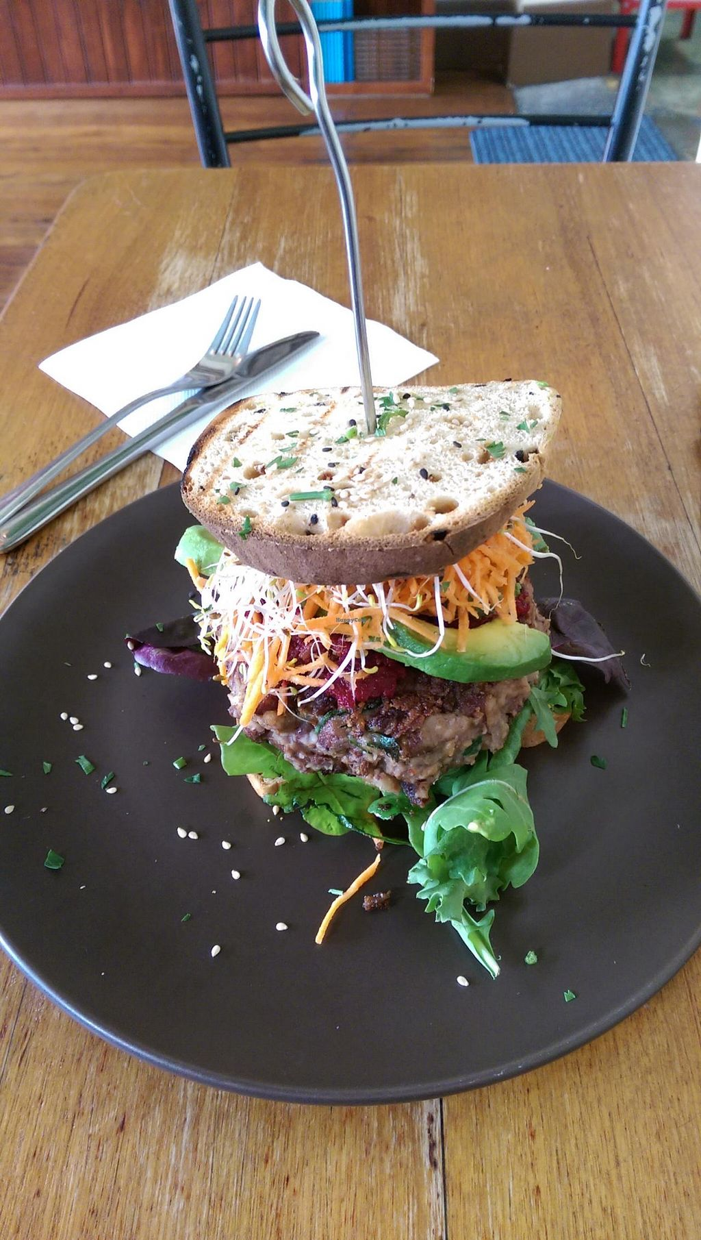 """Photo of CLOSED: Bliss Organic Garden Cafe  by <a href=""""/members/profile/big_saz"""">big_saz</a> <br/>The best-selling Bliss burger <br/> March 31, 2015  - <a href='/contact/abuse/image/4516/97441'>Report</a>"""