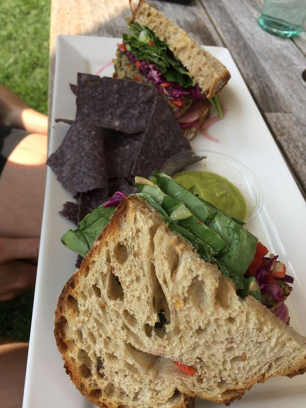 "Photo of Healthy Being Juicery  by <a href=""/members/profile/Swansonbuns"">Swansonbuns</a> <br/>Veggie burger on whole grain (gluten free available).  <br/> August 5, 2017  - <a href='/contact/abuse/image/45200/289447'>Report</a>"