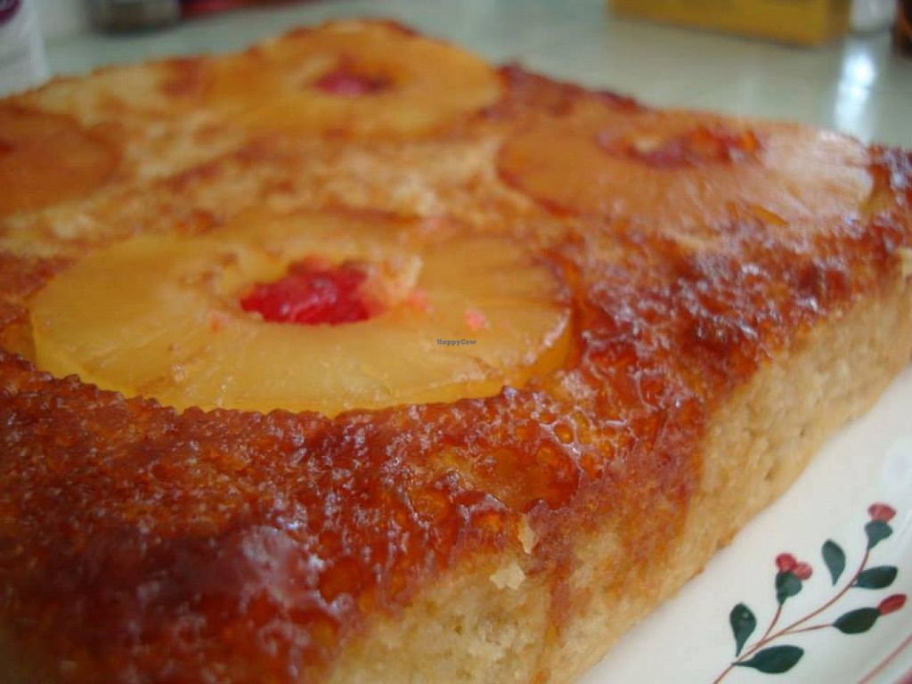 """Photo of Across the Universe Vegan Bakery and Cafe  by <a href=""""/members/profile/community"""">community</a> <br/>Pineapple Cake <br/> February 22, 2014  - <a href='/contact/abuse/image/45207/64721'>Report</a>"""