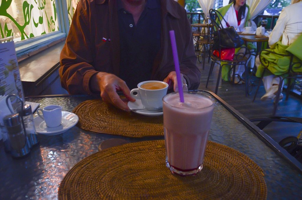 """Photo of Avocado Cafe - Chistoprudny  by <a href=""""/members/profile/Ciad"""">Ciad</a> <br/>Coffee/Frothy cherry drink <br/> March 1, 2016  - <a href='/contact/abuse/image/4521/138414'>Report</a>"""
